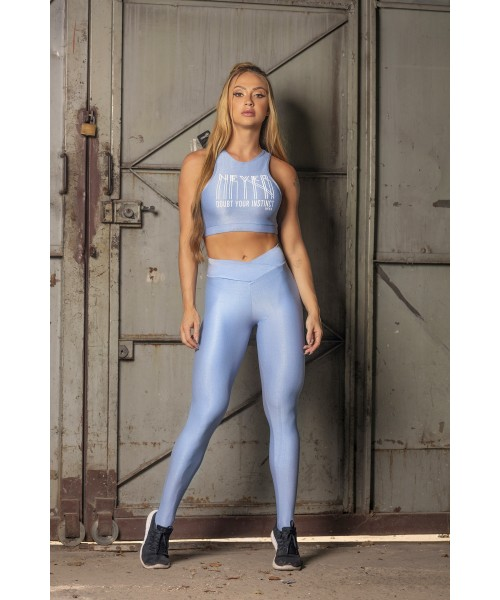 LEGGING HIPKINI SWEAT FITNESS AZUL...