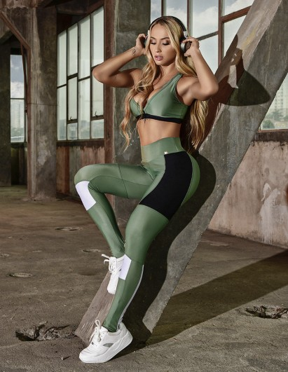 LEGGING LET´S GYM SPORT AGAVE GREEN